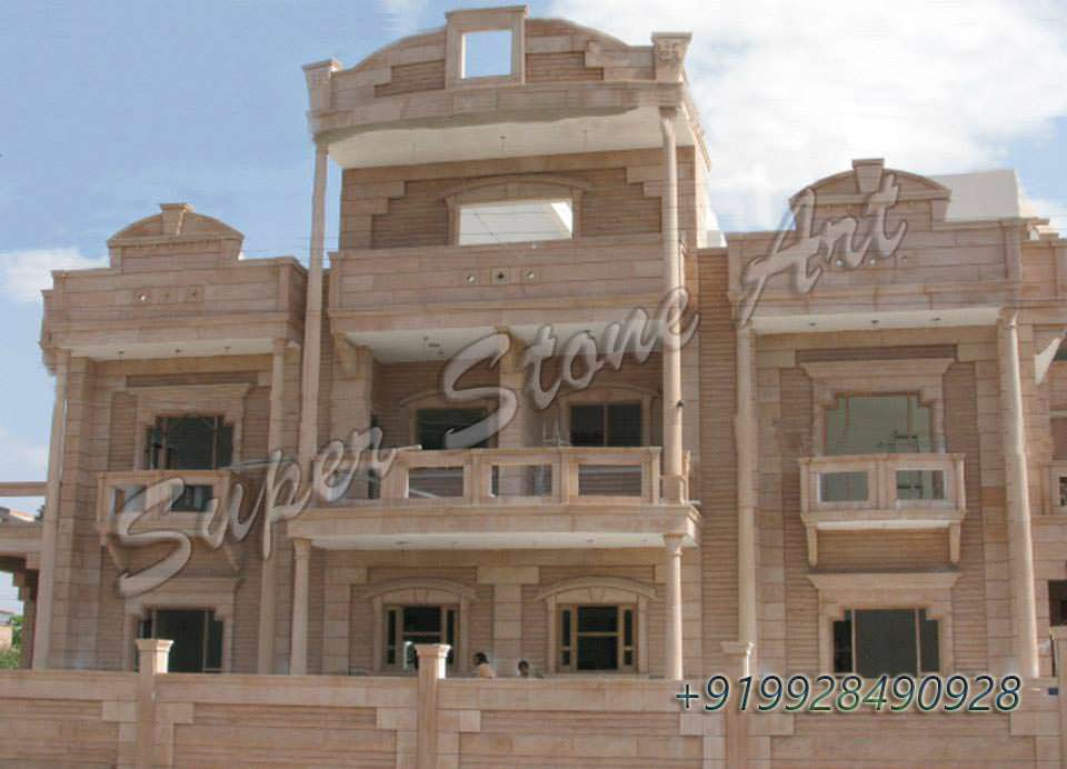 Front Elevation Of House In Rajasthan : Stone front elevation designs jodhpur