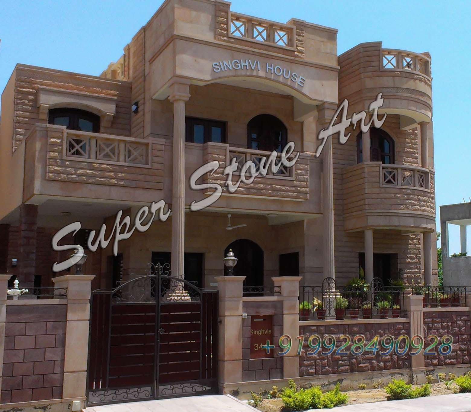 Home Design Ideas Elevation: Stone Front Elevation Front Elevation Designs,jodhpur