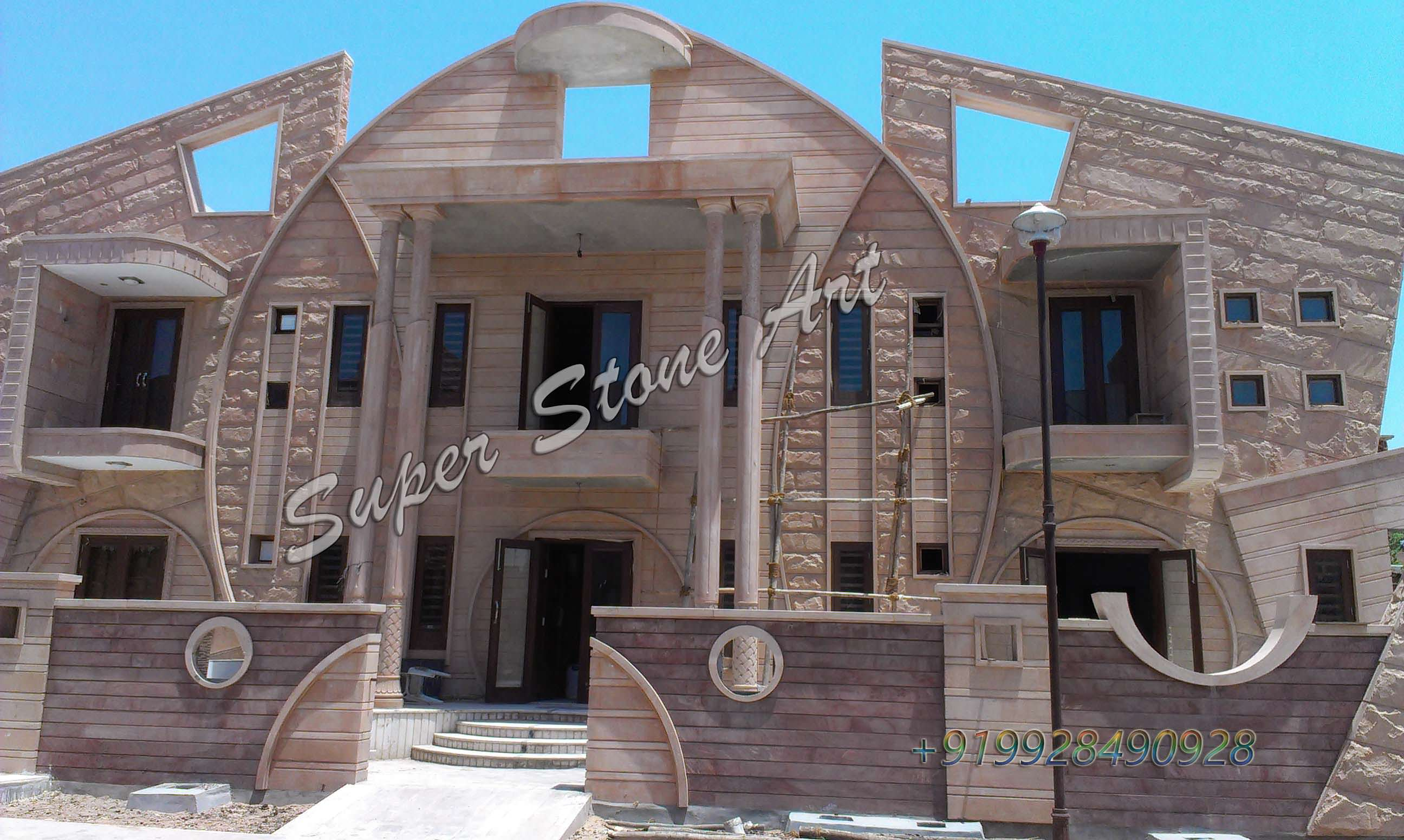 Front Elevation Designsjodhpur Sandstone Jodhpur Stone Art - House design elevation photo