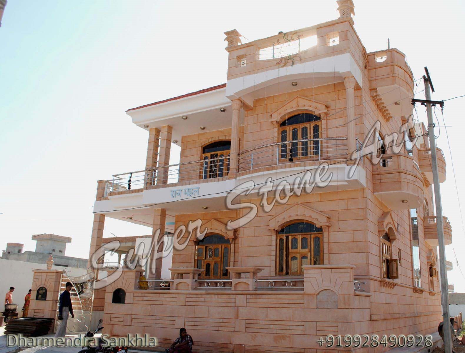 Front elevation designs jodhpur sandstone jodhpur stone Indian building photos