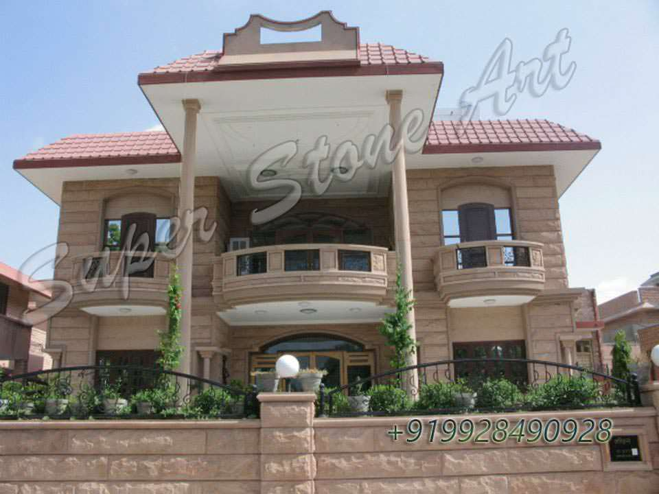 Stone front elevation front elevation designs jodhpur for Stone front house designs