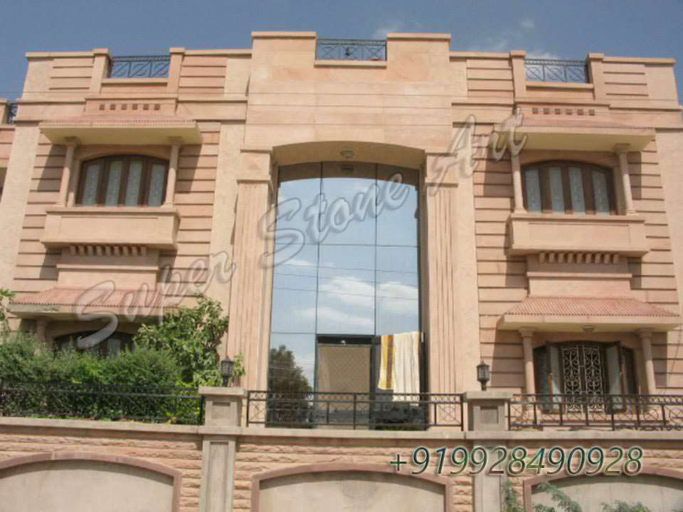 Simple Stone Elevation : Stone front elevation designs jodhpur