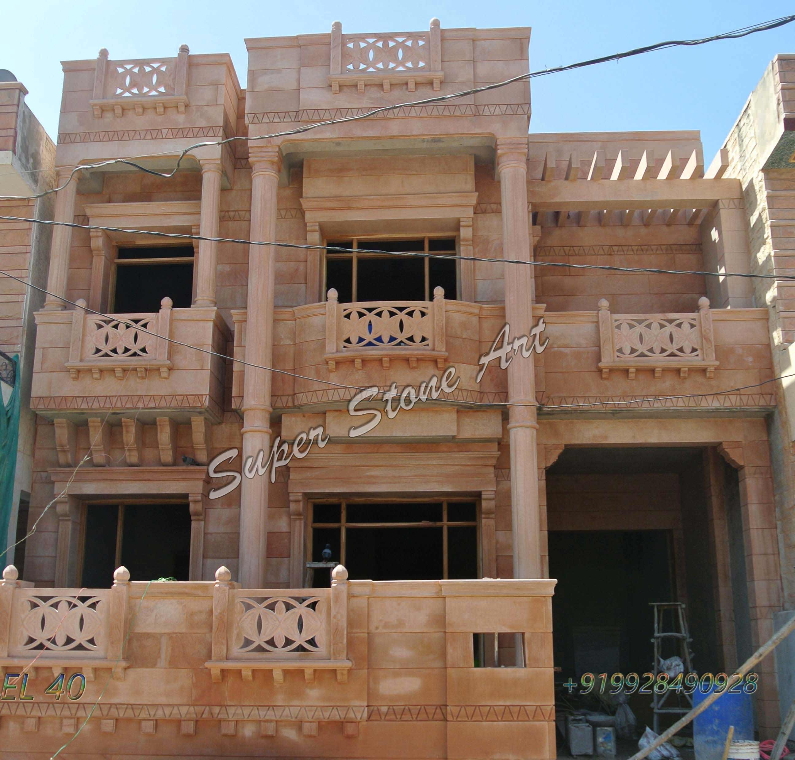 Front Elevation Cladding Design : Stone front elevation designs jodhpur