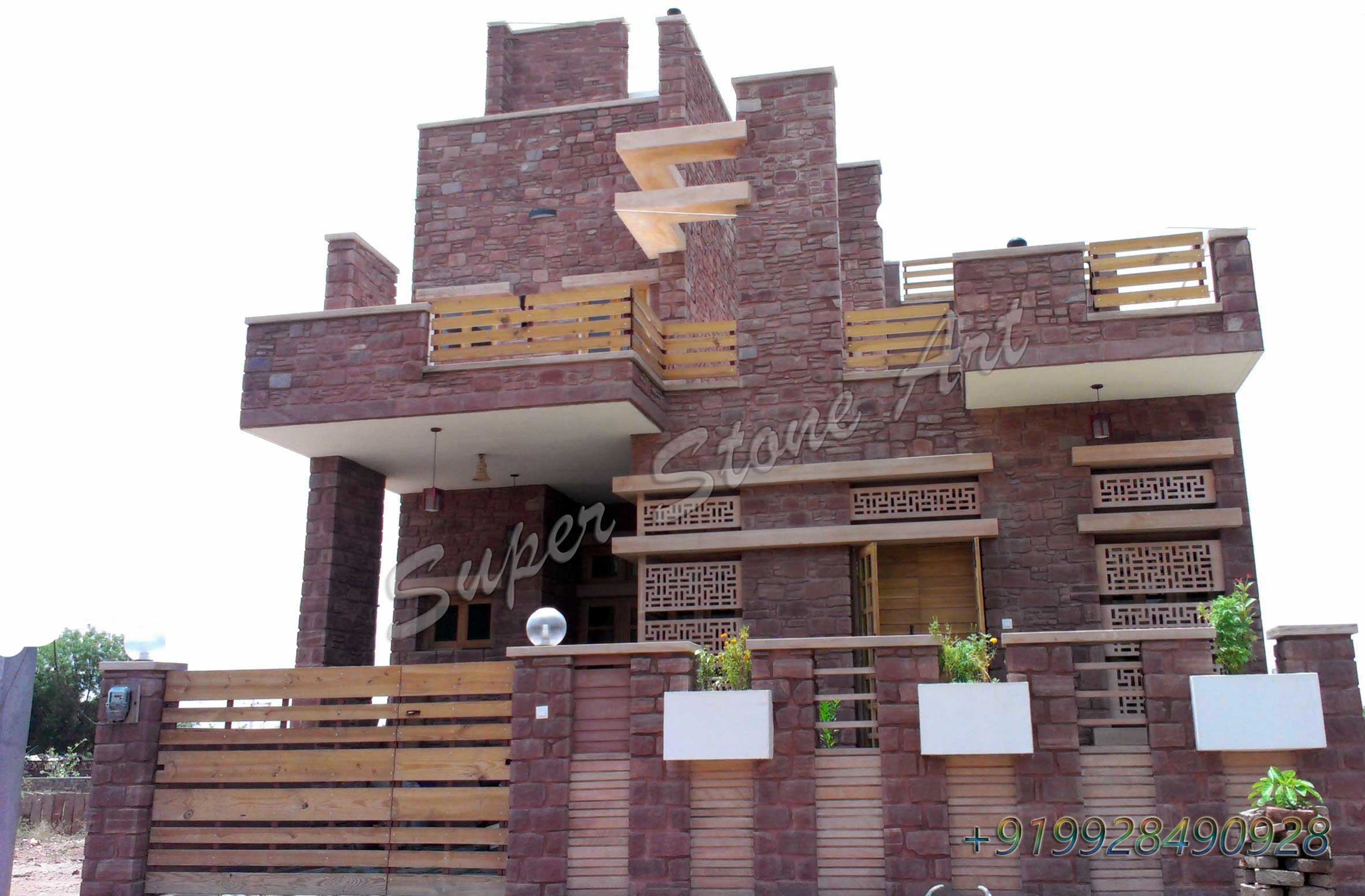 Granite Front Elevation Of House : Stone front elevation designs jodhpur