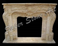 SFP27 Fireplace carved pink white sandstone stone natural stone