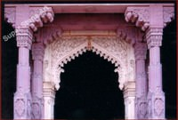 Indian stone gate
