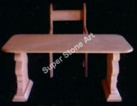 Sandstone chair table