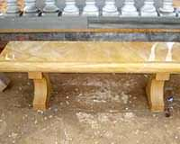 SFN29 Yellow stone bench,garden bench,polished bench,outdoor table