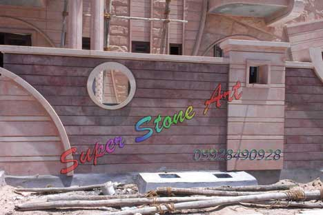 stone cladding with carving work, wall carving work, wall carving, indian stone