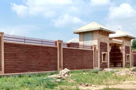 Stone Compound wall farm house, compound wall stone, stone new idea, stone manaufactuer in jodhpur