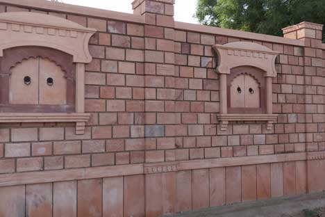 stone compound wall, wall idea design, compound wall stone