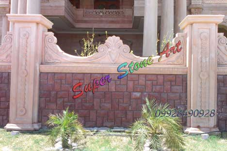 jodhpur stone, compound wall , wall art, stone new idea