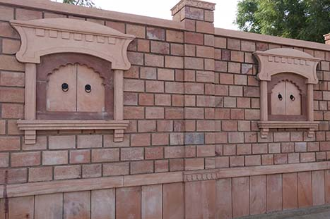 Boundary wall designs, compound wall design, stone wall ideas