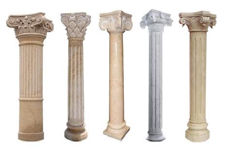 Stone Pillar Column Sandstone Decorative Design Round Carved Square Machinecut